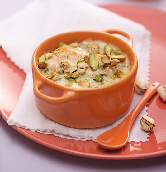Baked Pumpkin with Pistachio and Cheese