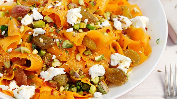 Carrot Pistachio and Feta Salad