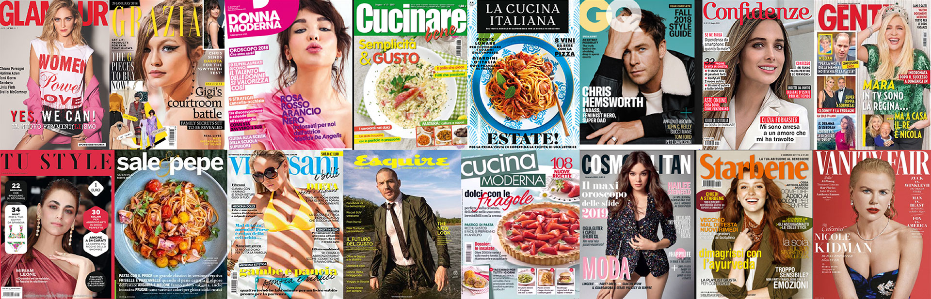 Italy magazine covers