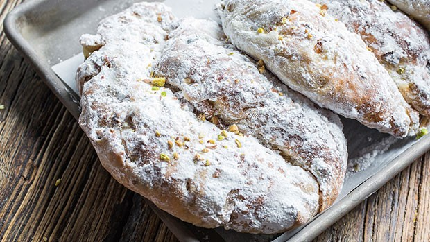 stollen with american pistachios