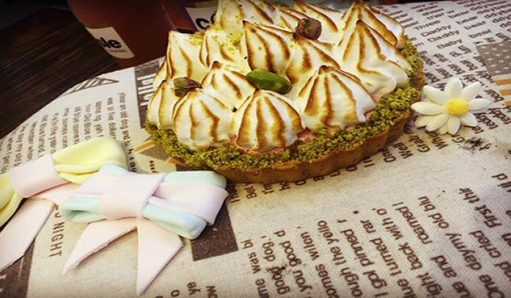California Pistachio Meringue Tart