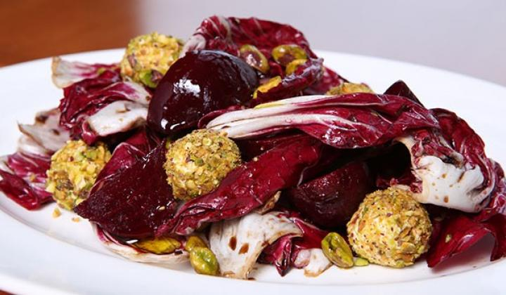 Marinated Radicchio & Beet Salad with Goat Cheese