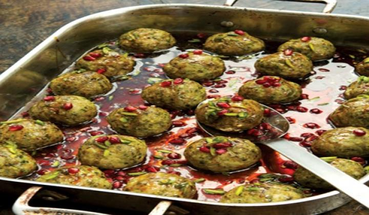 Pistachio and Pomegranate Meatballs