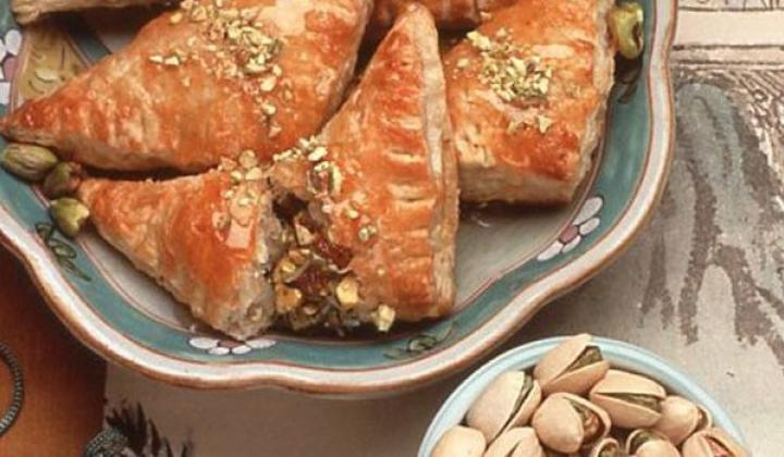 Pistachio Chinese Turnovers