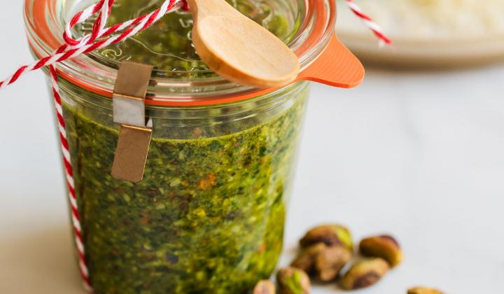 Pistachio Pesto with Basil and Spinach