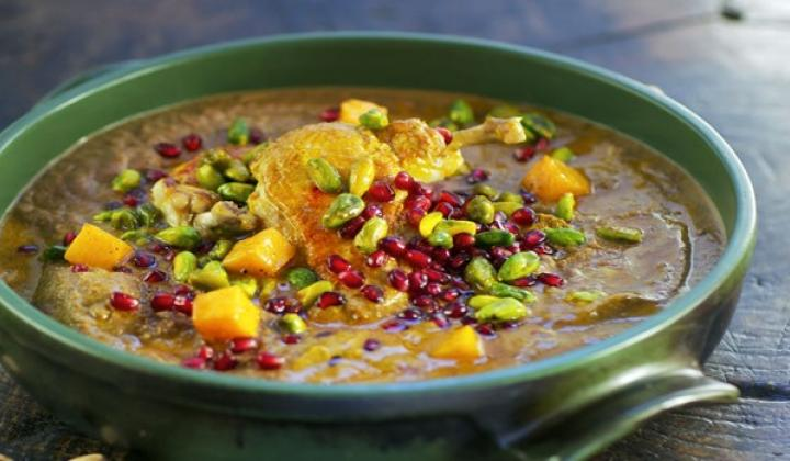 Pomegranate and Pistachio Braise