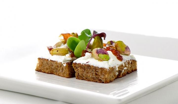Rye Bread Crouton with Soft Goat Cheese